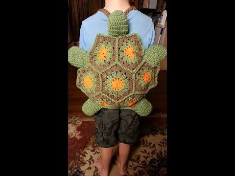 CROCHET  How to - #Crochet Turtle Backpack - Crochet Animal  #TUTORIAL #76 LEARN CROCHET