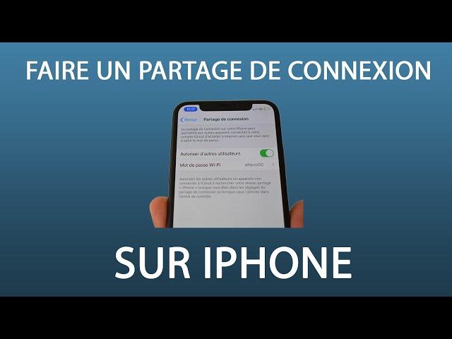 [TUTO] Comment faire  un partage de connexion avec un iPhone #2