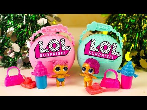 Видео для детей ЛОЛ Сюрпризы Шары Новогодние подарки Игрушки для детей LOL Surprise Unboxing toys
