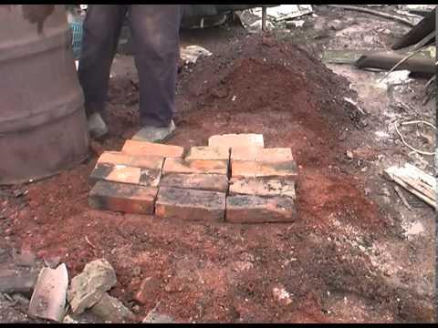 Дровяная печь для обжига керамики сборка