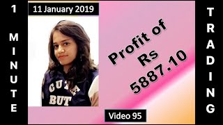 LIVE - 11 Jan 2019 - Intraday Trading in 1 Minute - Video 95 - SkillIndiConcept