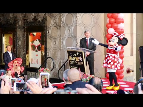 Minnie Mouse Gets Her Star On Hollywood Walk Of Fame