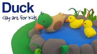 Farm animals #4 | Clay Duck For Kids | How To Make A Clay Duck | Clay modeling
