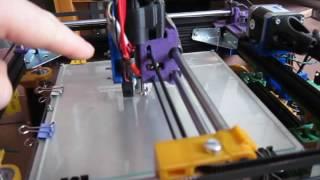 sandwich200v2 corexy folding portable 3d printer, first prints series