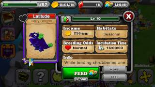 How to breed a Berry dragon in DragonVale - breeding combinations