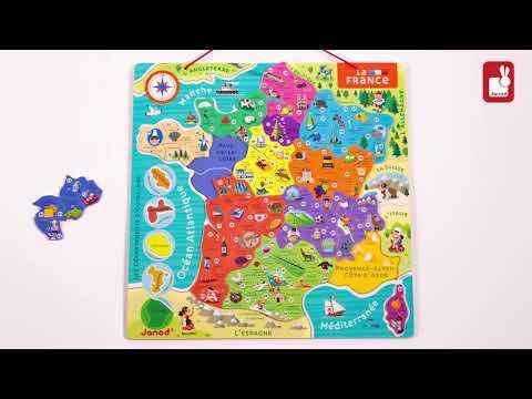 Janod - Puzzle France Magnétique - Nouvelles régions