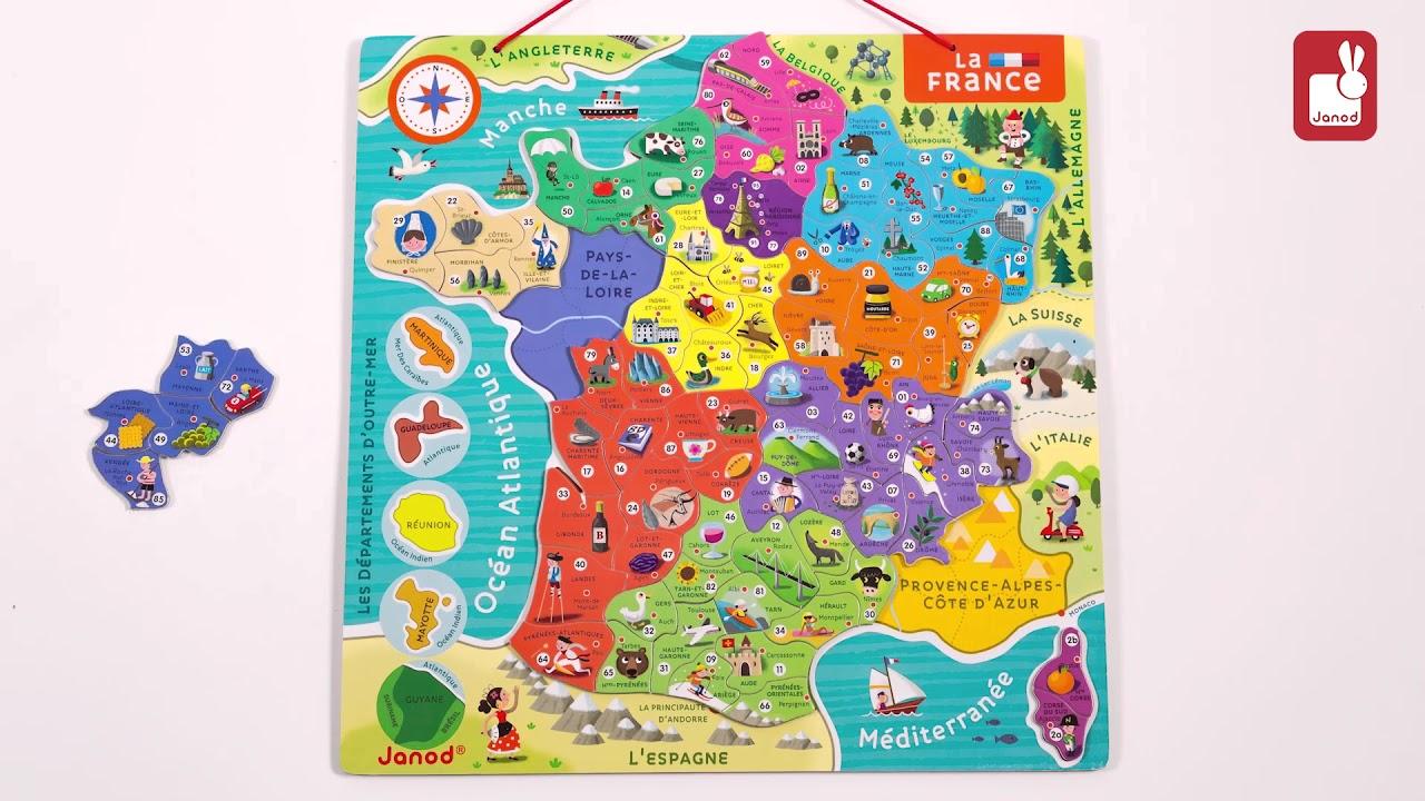 Carte Europe Janod.Carte De France Janod