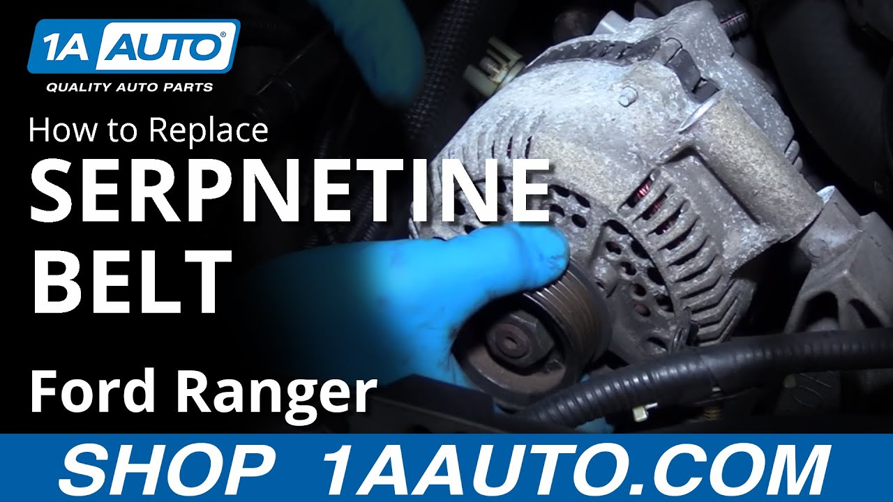 How To Remove Inspect Reinstall Serpentine Belt 2001 Ford Ranger 40 2008 4 0 V6 Engine Diagram 40l