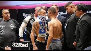 Josh Warrington vs Sofiane Takoucht WEIGH-IN | CRAZY SHAPE | Takoucht weigh in description