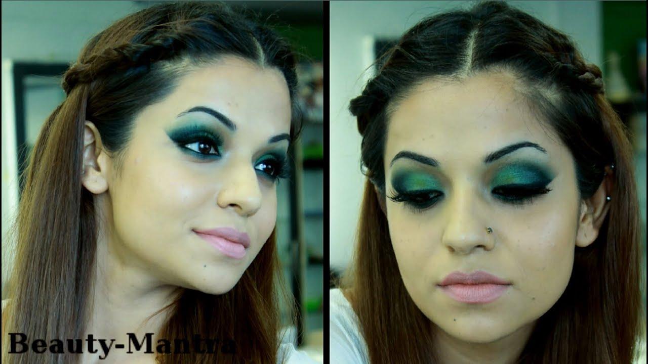 Green smokey arabic eye makeup tutorial youtube green smokey arabic eye makeup tutorial baditri Images