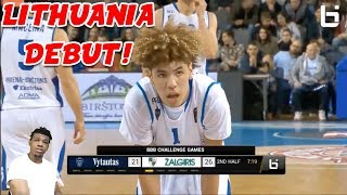 LAMELO BALL IS SPECIAL !!! LAMELO BALL & LIANGELO DEBUT IN LITUANIA !