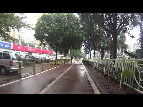 shenzhen streets after rain on Jan 15 2017 - guangdong china