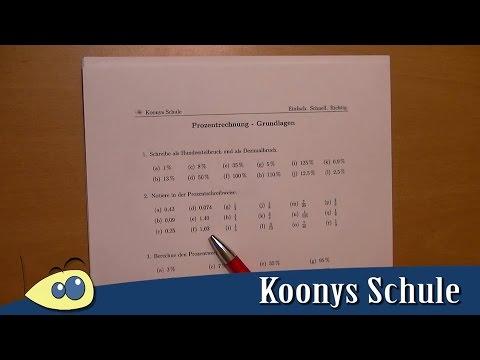 Prozentrechnung - Grundlagen | Arbeitsblatt 0100 Intro ...