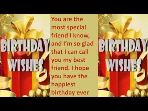 Happy birthday wishes to friend, SMS message, Greetings, Whatsapp Video -5