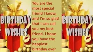 Video Happy birthday wishes to friend, SMS message, Greetings, Whatsapp Video -5 download MP3, 3GP, MP4, WEBM, AVI, FLV Agustus 2018