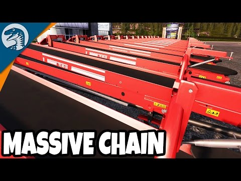 Making a massive conveyor belt line from logging camp to sawmill