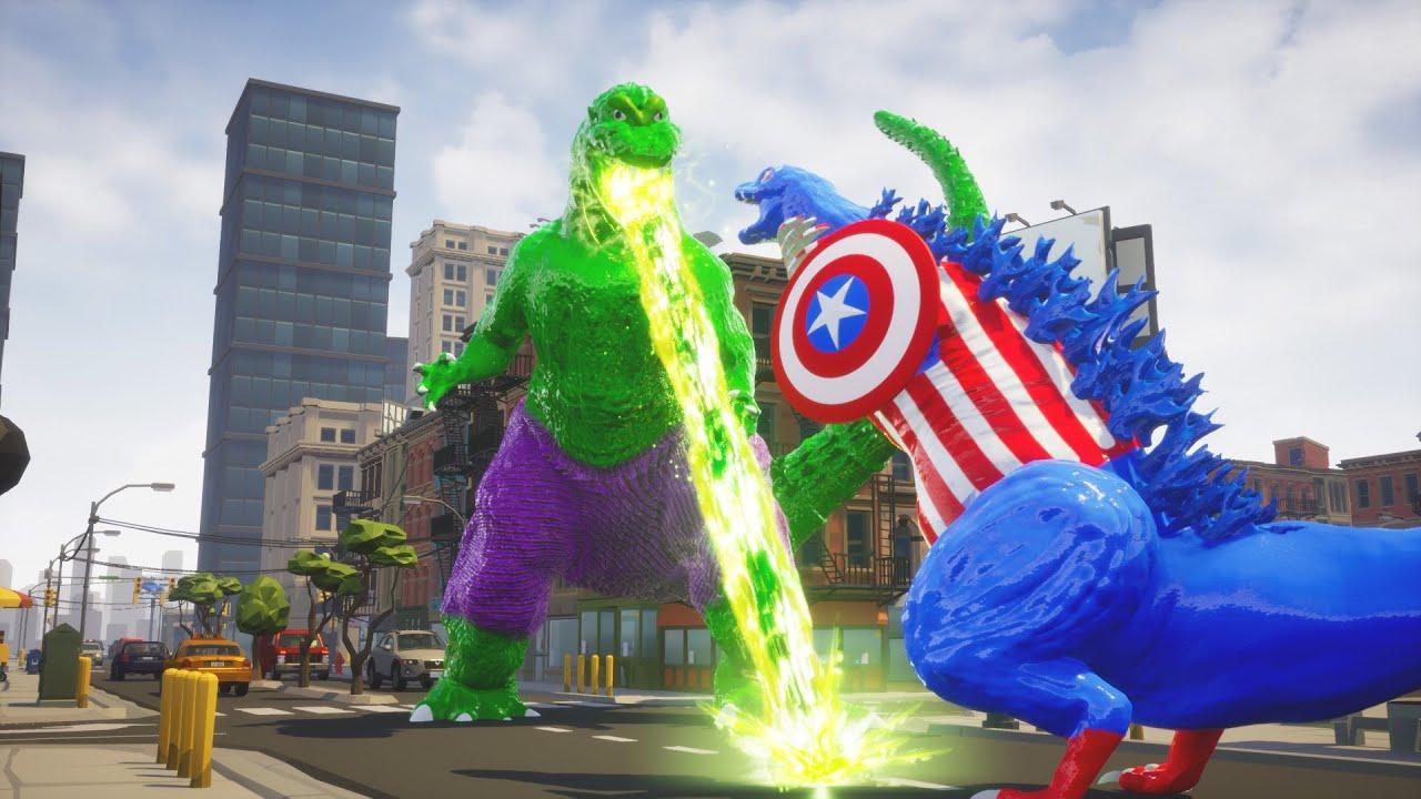 [Avengers] Iron Man Captain America vs Hulk [godzilla]