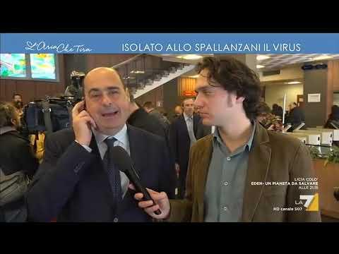"""Nicola Zingaretti: """"Nel Lazio circa 85mila persone con l'influenza e due col coronavirus: ..."""