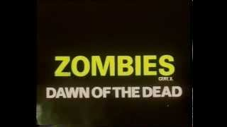 ZOMBIES 'Dawn of the Dead' UK 1980 VHS Trailer