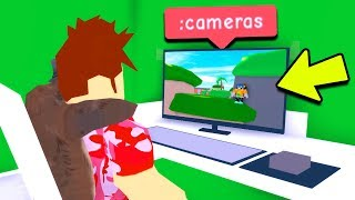 I USED A CAMERA COMMAND TO CHEAT IN HIDE AND SEEK! (Roblox)
