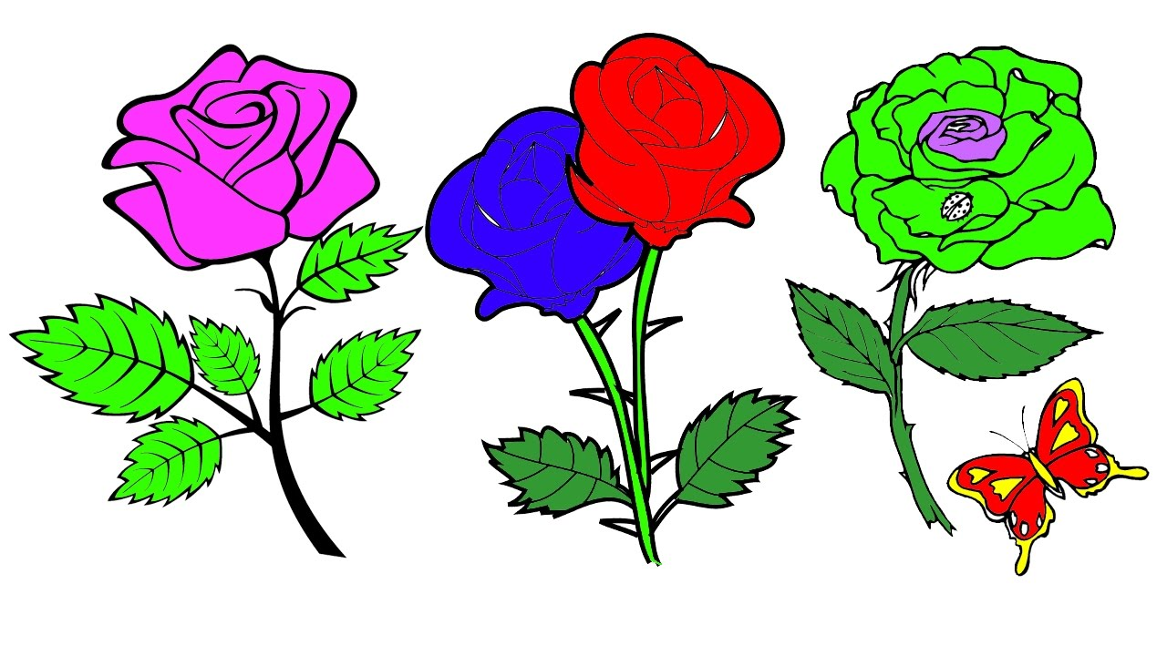 coloring pages rose u0026 lily u0026 sunflower u0026 chrysanthemum free