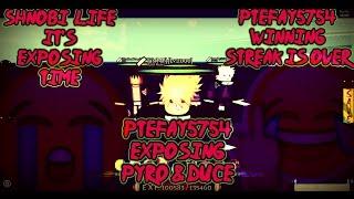 ROBLOX Shinobi Life 🅾️🅰️ - Ptefay5754 - Exposing Pyro & Duce