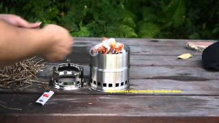 cool Light Weight Wood Gas Backpacking Emergency Wood Burning Camping Stove hike