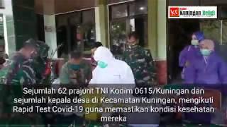 Pelaksanaan Rapid Test Covid-19 di Makodim 0615/Kuningan