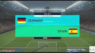 국가대표팀 친선경기 독일 vs 스페인 빅 매치 게임 경기 예측 하이라이트 영상