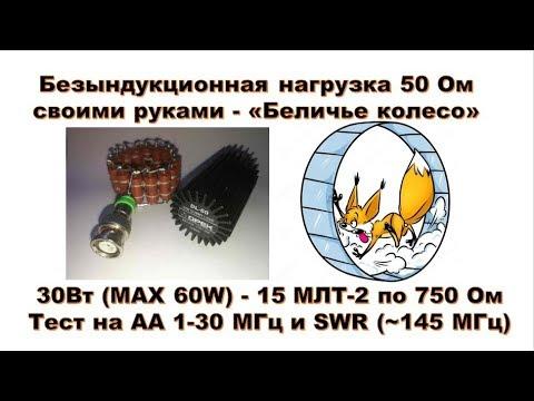 Эквивалент нагрузки 50 Ом - «Беличье колесо» (Безындукционная 30 - 60 Вт)