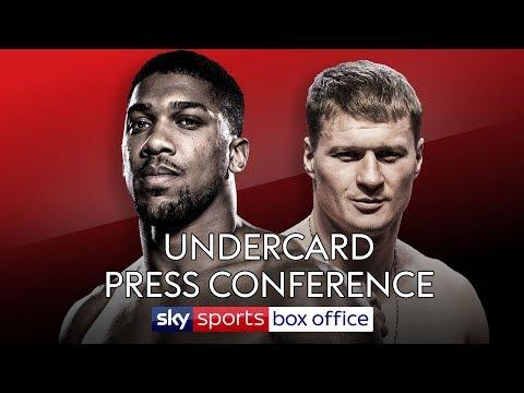 UNDERCARD PRESS CONFERENCE! Anthony Joshua vs Alexander Povetkin 🥊