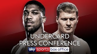 UNDERCARD PRESS CONFERENCE! Anthony Joshua vs Alexander Povetkin 🥊