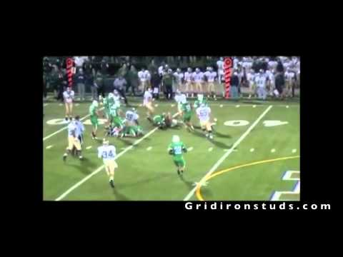 High School Defensive End Tristan Humbles #35 Notre Dame Dons
