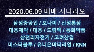 2020 06 09 매매 시나리오 - 삼성중공업, 모나…