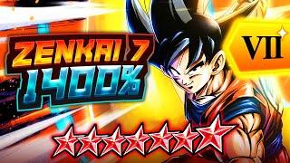 Z7, 1400% KAKAROT GOKU IS PRETTY GOOD! A DECENT F2P RED SLOT OPTION!    DB Legends PvP