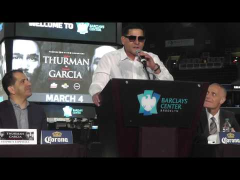 Epic Angel With The Fireworks - Keith Thurman vs Danny Garcia Press Conference - esnews boxing