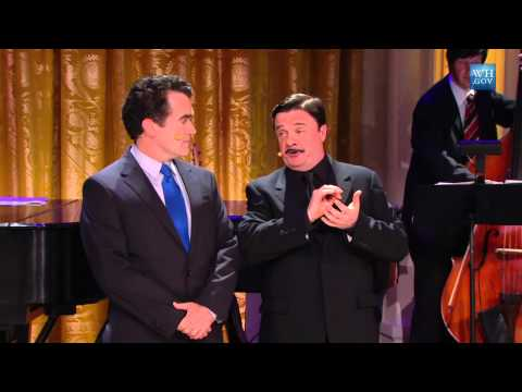Nathan Lane & Brian d'Arcy James perform