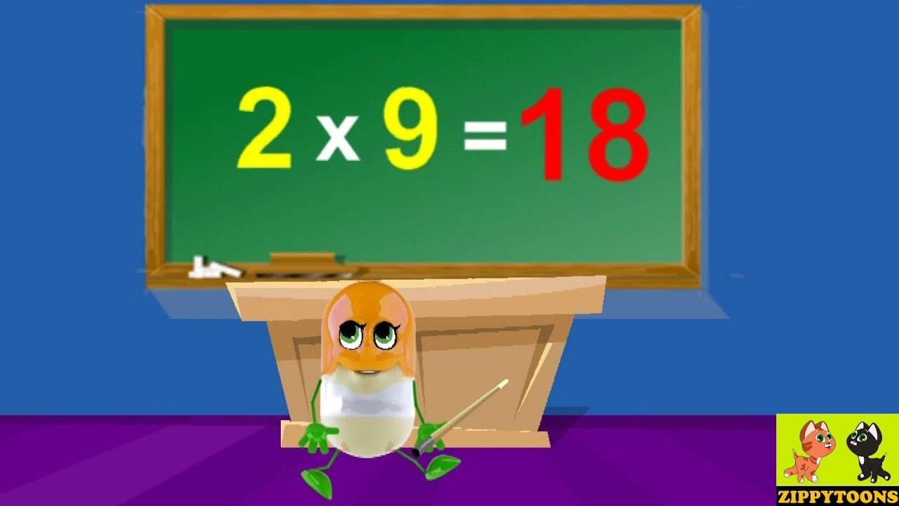 Learn Animation Math Table Of 2 | And | Animated Christmas Song
