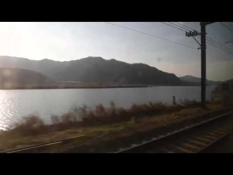 KTX with Nakdong River 아름다운 KTX - Korea Train eXpress 기찻길 풍경