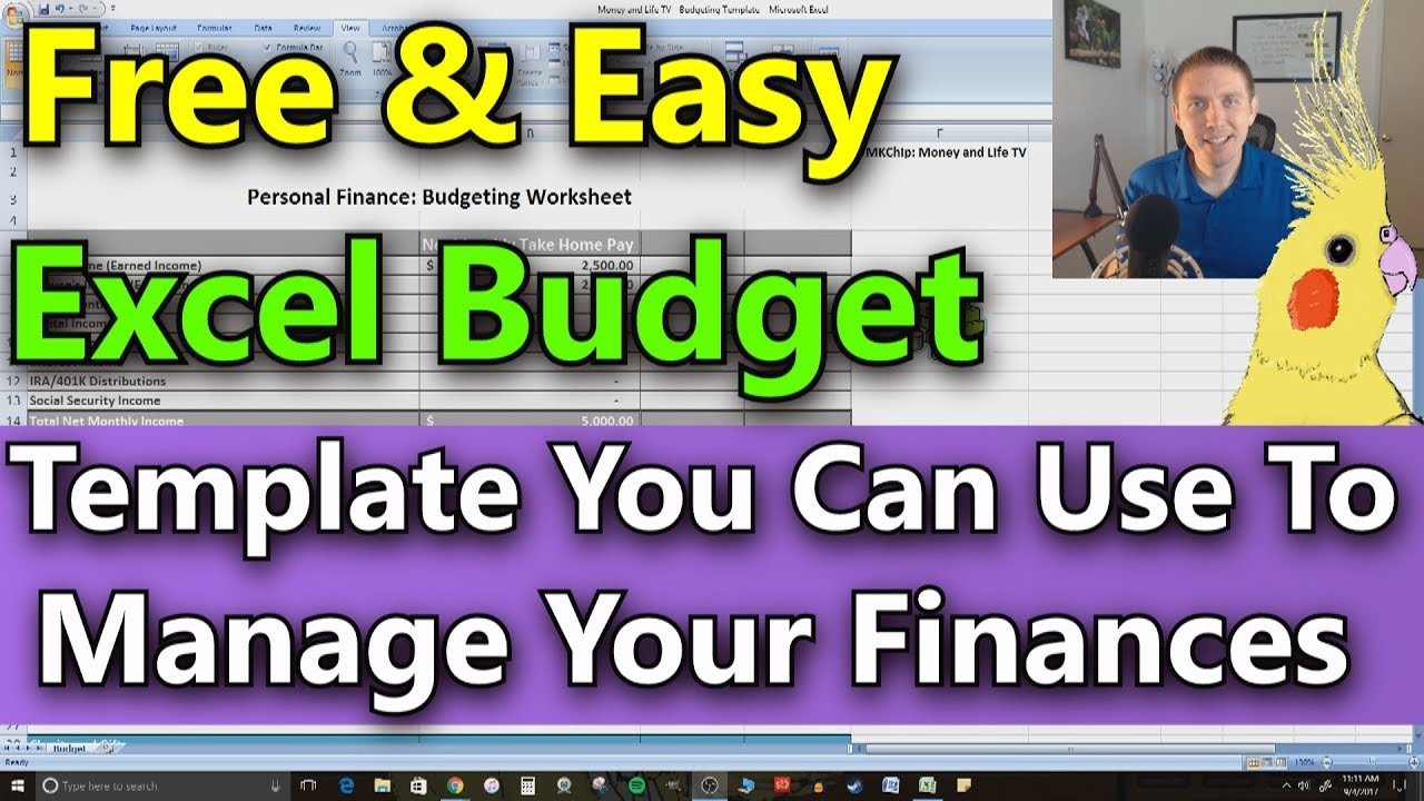 Free Microsoft Excel Budget Template Spreadsheet (Super Easy To Use)