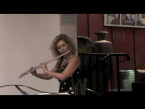 Jane Rutter Partita for Solo flute Live 3rd Movt Courante