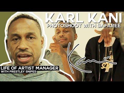 Life of Artist Manager: Karl Kani Photo Shoot with Safaree
