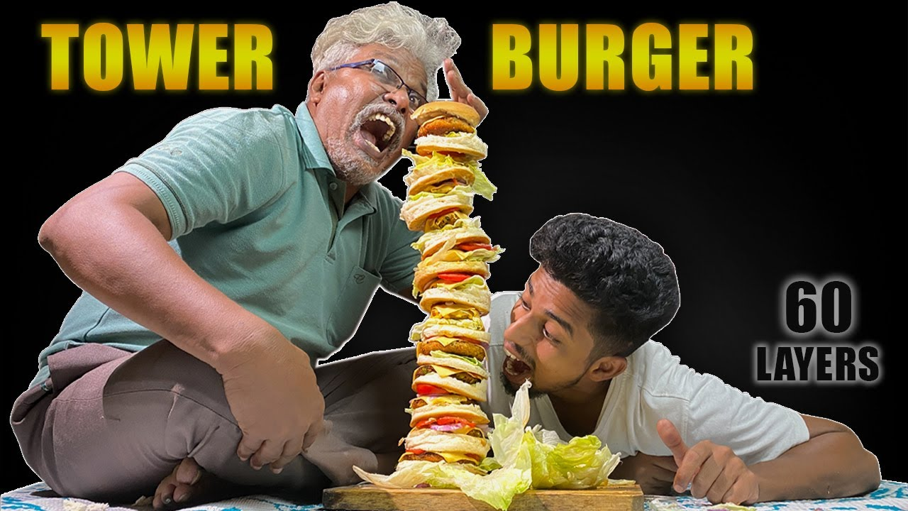 We made A Biggest TOWER BURGER!