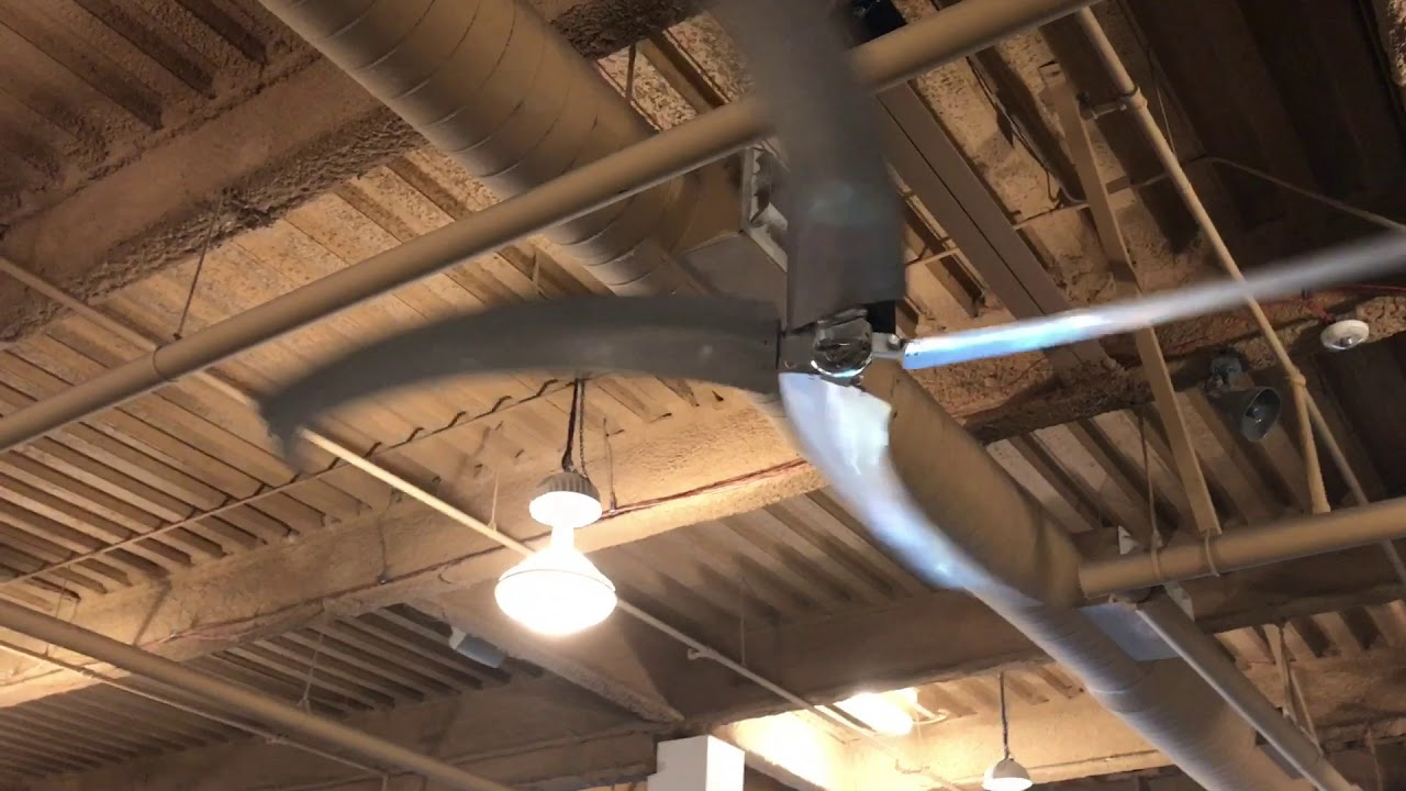 Con Tech Industrial Ceiling Fans Rite Hite Hvls At A 24hr Fitness Gym