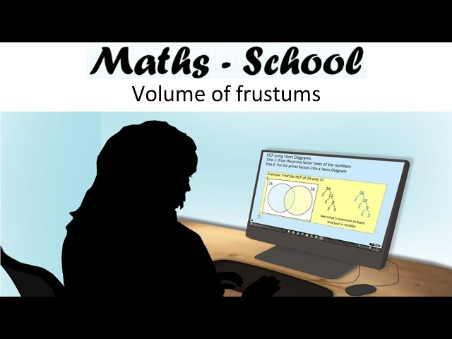 Volume of a frustum (part cone / pyramid) Maths GCSE revision lesson (Maths - School)