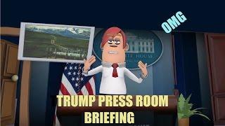 Trump Speech Press Room White House