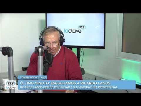 #CombinacionClave Ricardo Lagos anuncia su retiro de la carrera Presidencial (10 de Abril 2017)