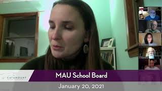 MAU Board Meeting // 01/20/21