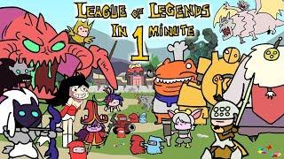 LEAGUE OF LEGENDS IN 1 MINUTE