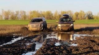 Cadillac Escalade(new)VS Chevrolet Tahoe 900 Кто круче месит грязь - внедорожный тест драйв!